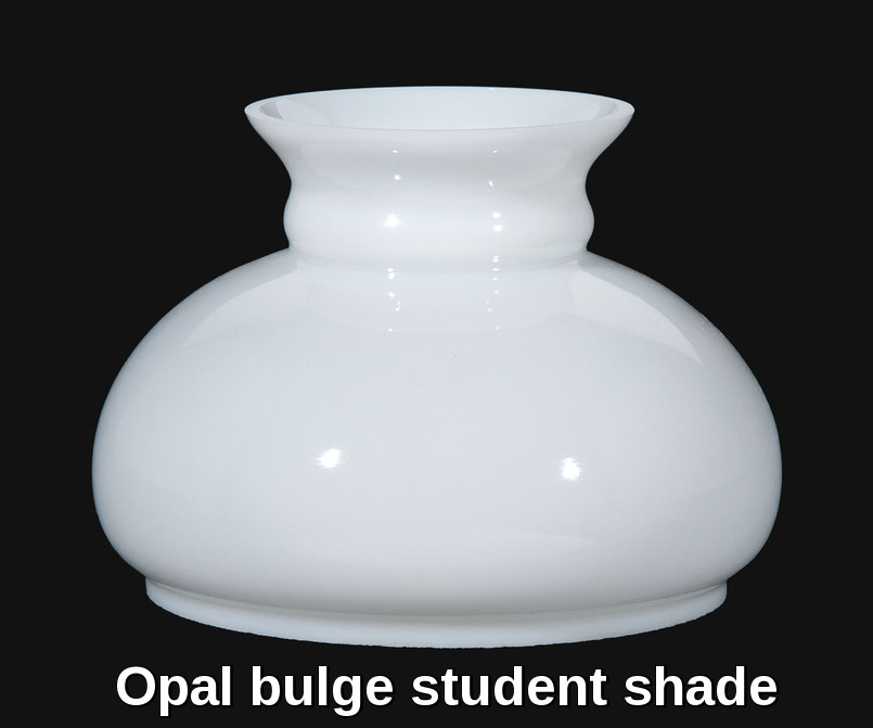 Opal bulge glass student shade