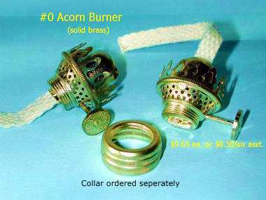 acorn oil lamp burner