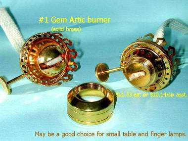 gem oil lamp burner