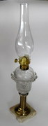 sold Diamond Point antique lamp