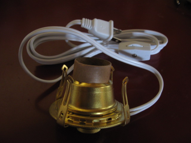 oil lamp part: electrifed #1 size solid brass burner