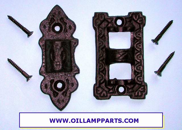 Wall Bracket Lamp Hinge : Oil Lamp Cast Iron wall bracket hinge plate