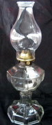 sold Indian glass 8-panel antique oil lamp