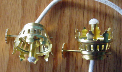 1 Solid Brass Pixie Replacement Oil Lamp Burner