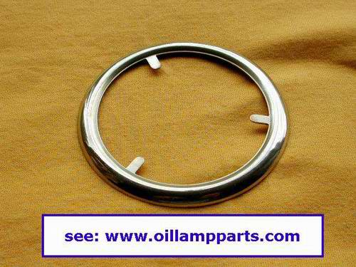 Brass top ring for oil lamp ball shade